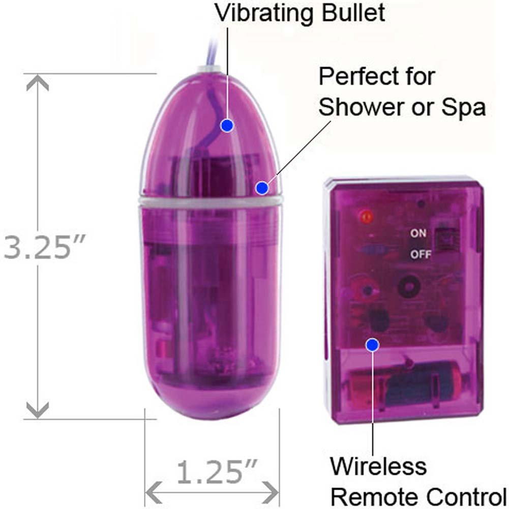 Wireless Remote Control Waterproof Bullet Purple RbDV - View #1