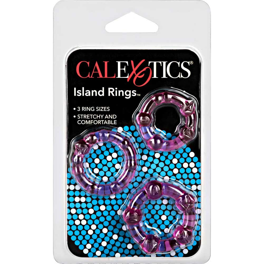 California Exotics Island Silicone Rings 3 Sizes Pink - View #4