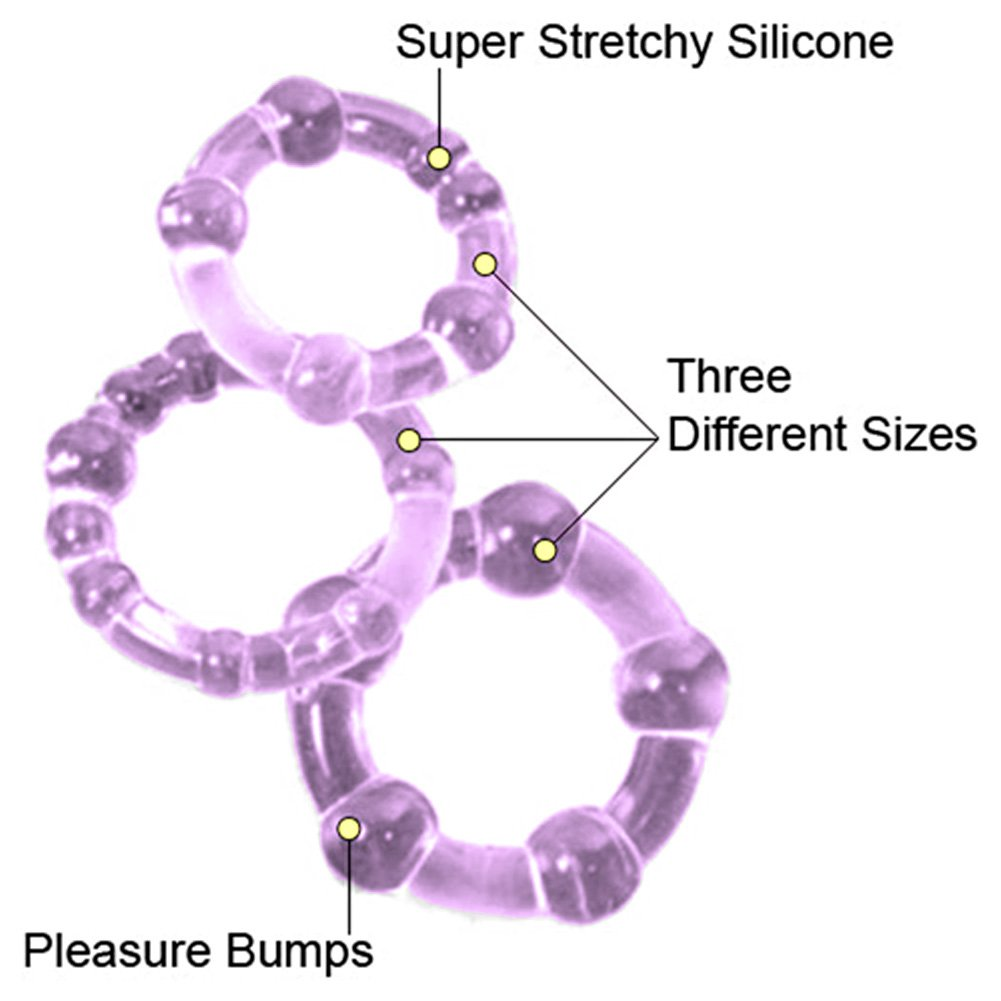 Island Silicone Rings 3 Sizes Purple - View #1