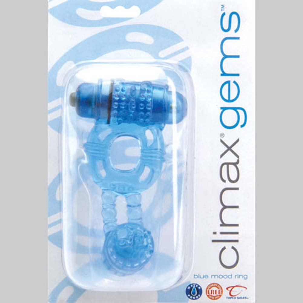 Climax Gems Blue Mood Waterproof Vibrating Jelly Ring - View #1