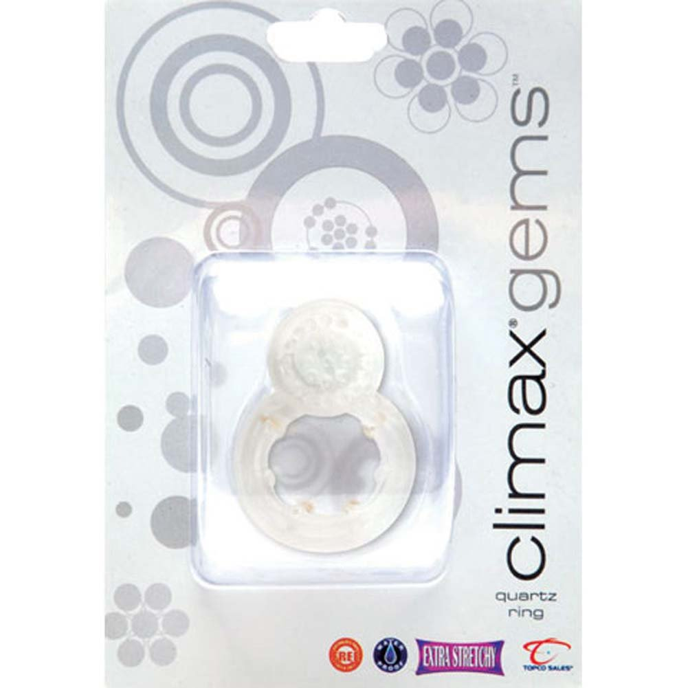 Climax Gems Qusrtz Waterproof Vibrating Cock Ring - View #2