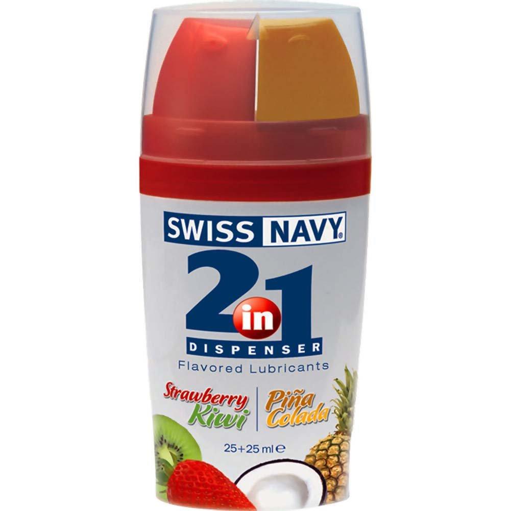 Swiss Navy 2-in-1 Dispenser Strawberry Kiwi Pina Colada Premium Flavors - View #1