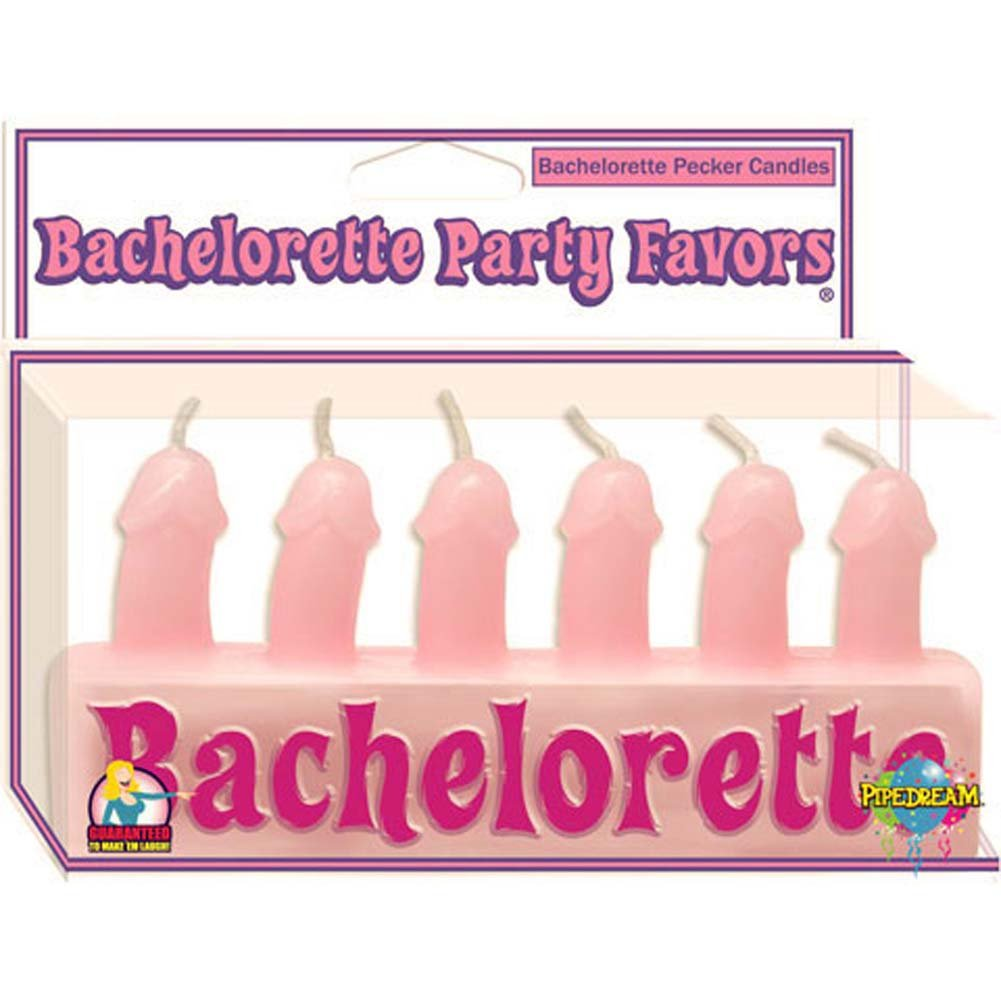 Bachelorette Party Favors Pecker Candles Pink - View #1