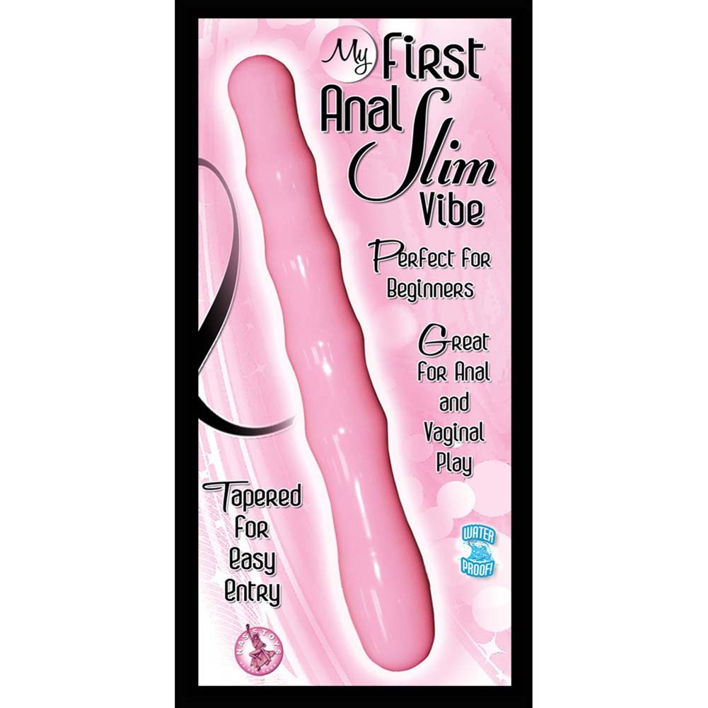 "My First Anal Slim Waterproof Vibe 6.5"" Pink - View #3"