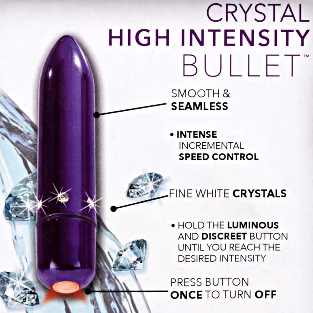 "California Exotics Crystal High Intensity Waterproof Bullet 2.5"" Purple - View #1"