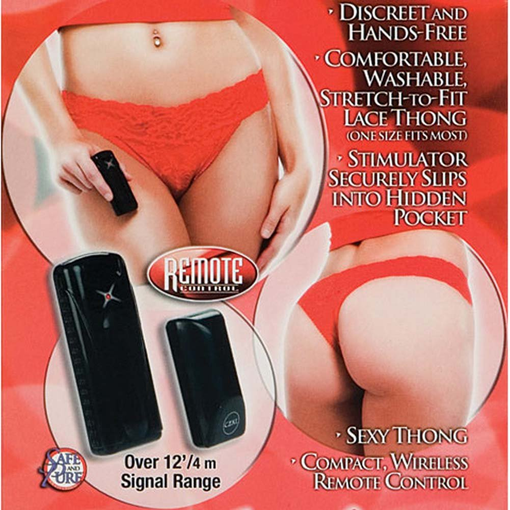 Red Hot Nights Remote Controlled Vibrating Thong - View #2