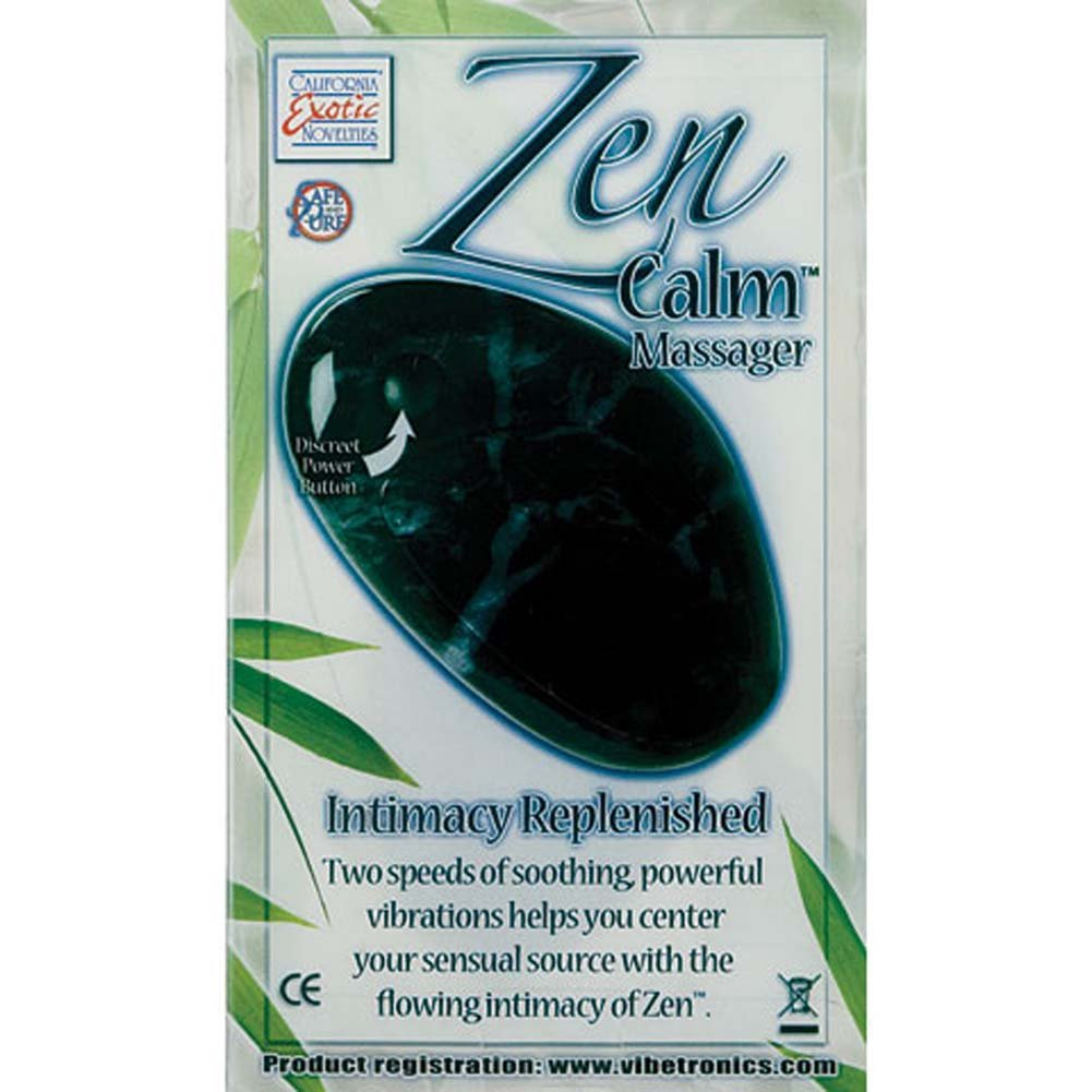 "California Exotics Zen Calm Vibrating Personal Massager 3.5"" Black Marble - View #1"