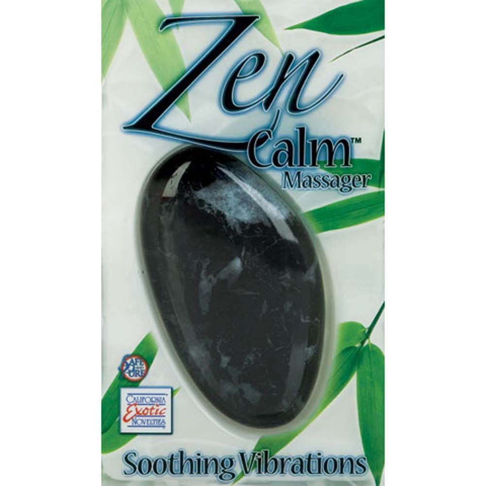"California Exotics Zen Calm Vibrating Personal Massager 3.5"" Black Marble - View #3"