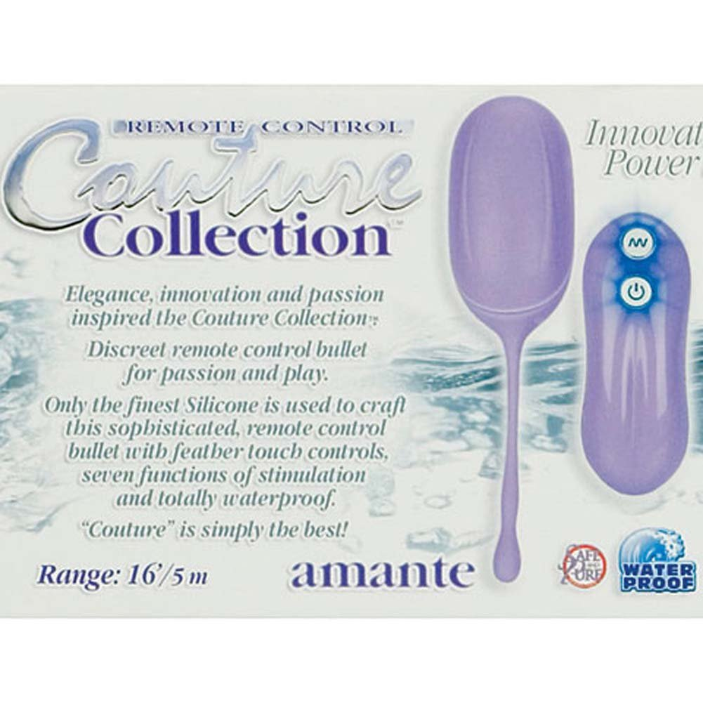 Couture Collection Amante Waterproof Silicone Vibe Purple - View #2