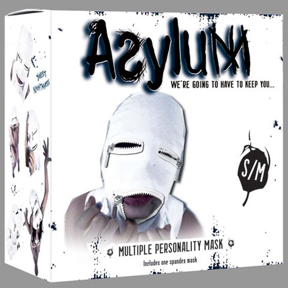 Asylum Multiple Personality Mask Small/Medium Medical White - View #1