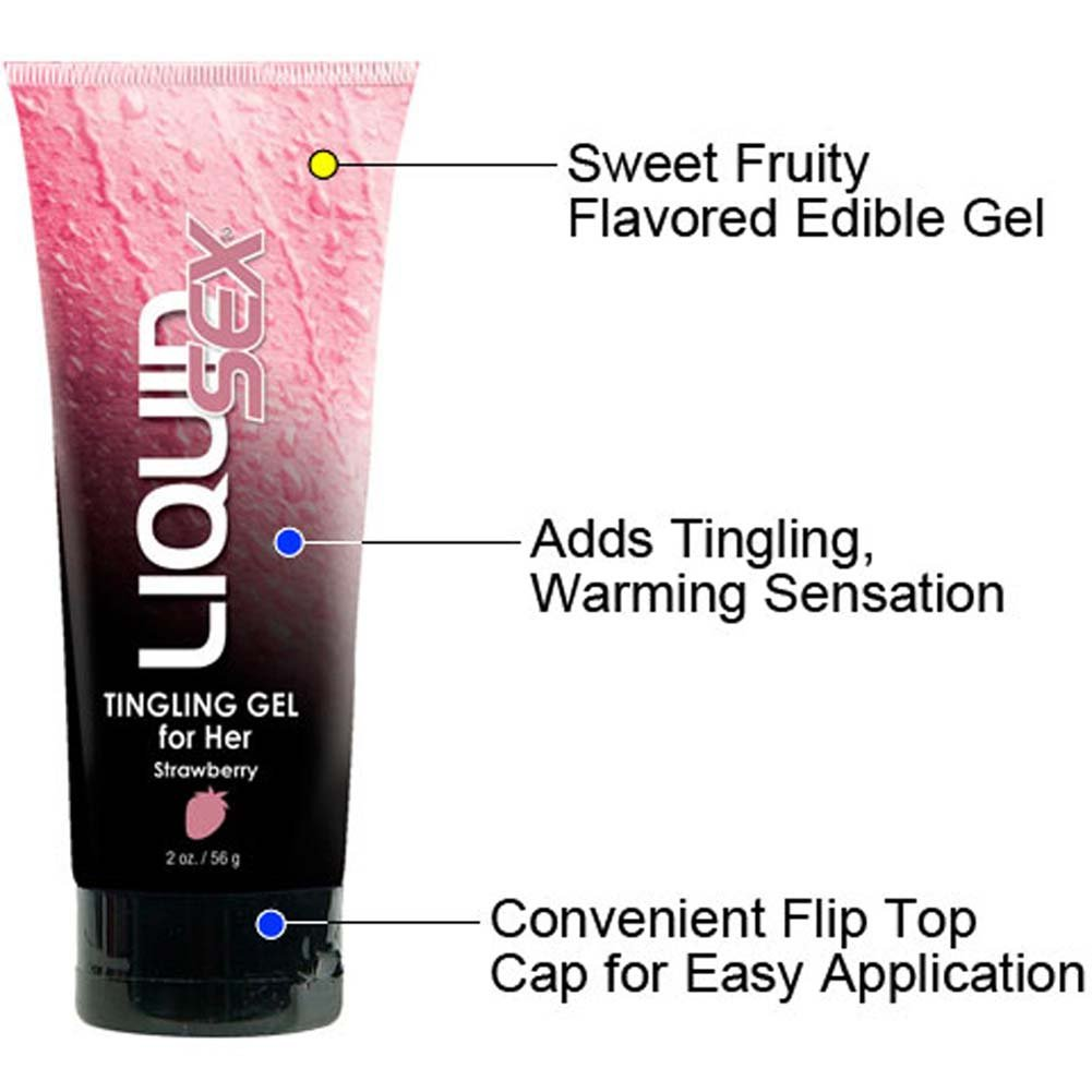 Liquid Sex Tingling Gel for Her 2 Oz. 56 G Strawberry Flavor - View #1