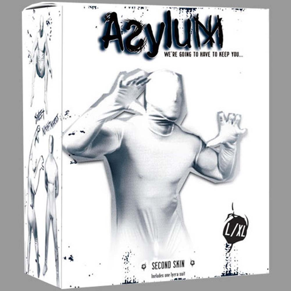 Asylum Second Skin Lycra Bodysuit Large/X-Large Medical White - View #1
