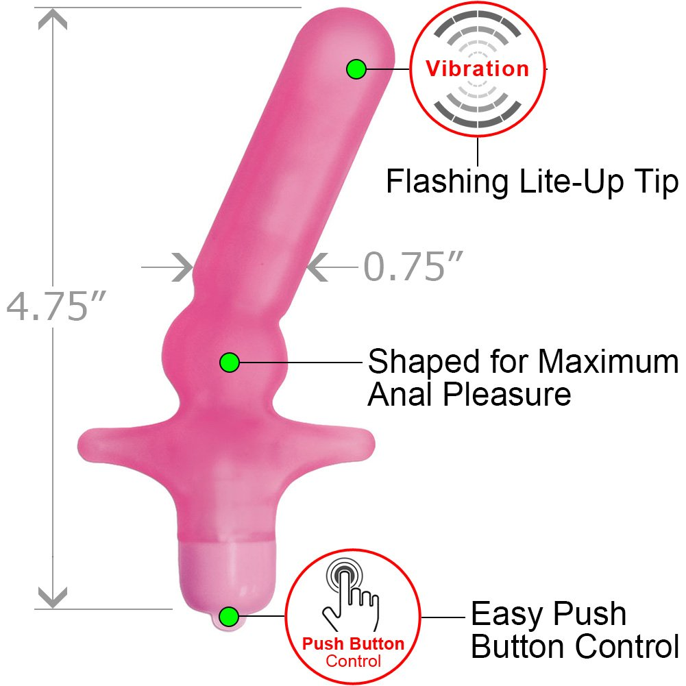 My First Vibrating Mini Anal T Waterproof Butt Plug Pink - View #1