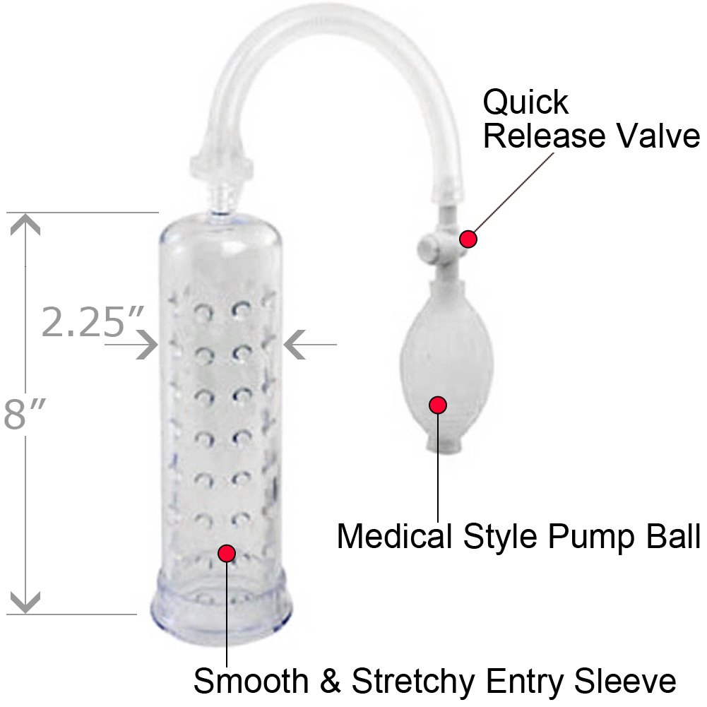 "Supersizer II Waterproof Penis Pump 8"" Clear - View #1"