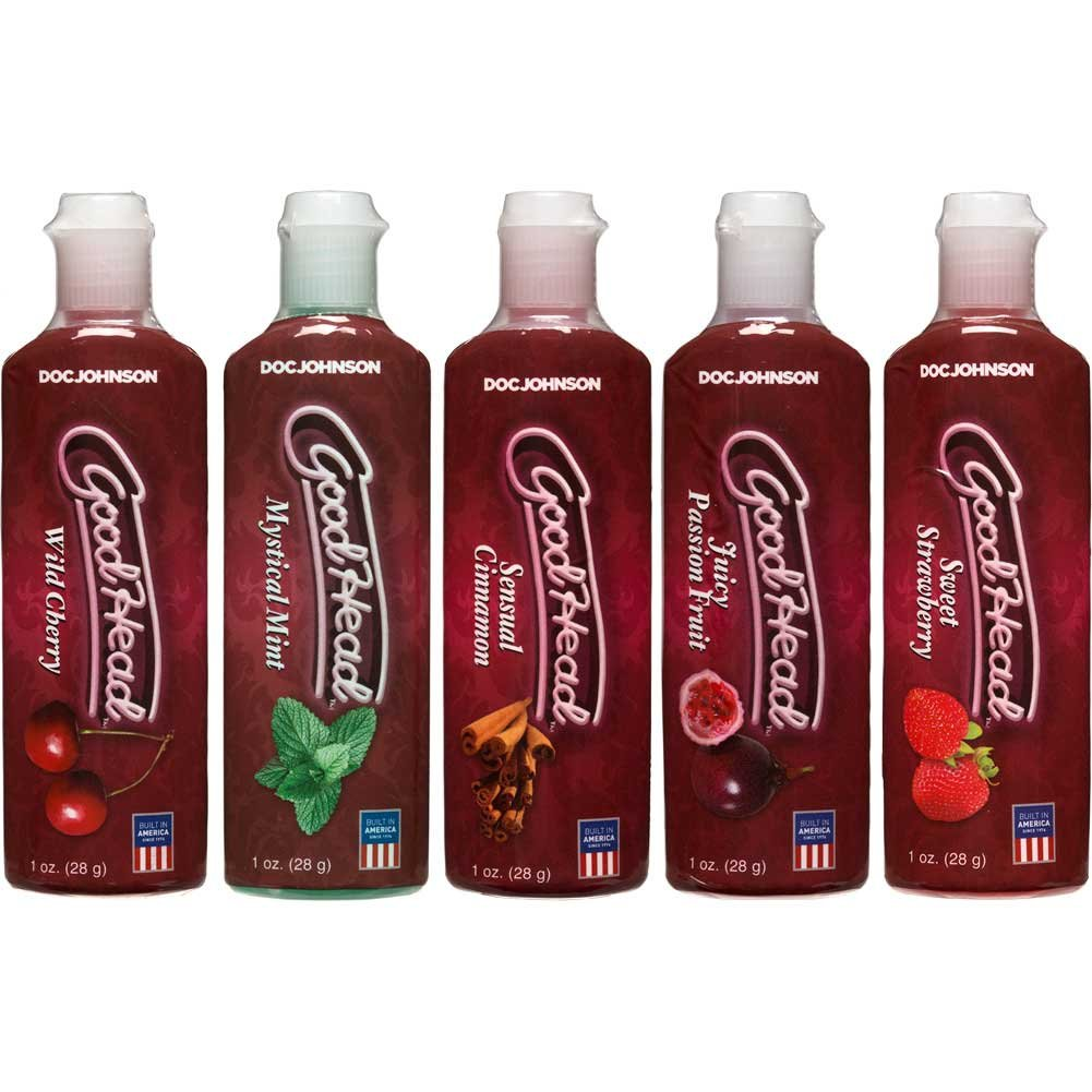 GoodHead Flavored Gel 5 Bottle Pack 1 Oz. Each - View #2