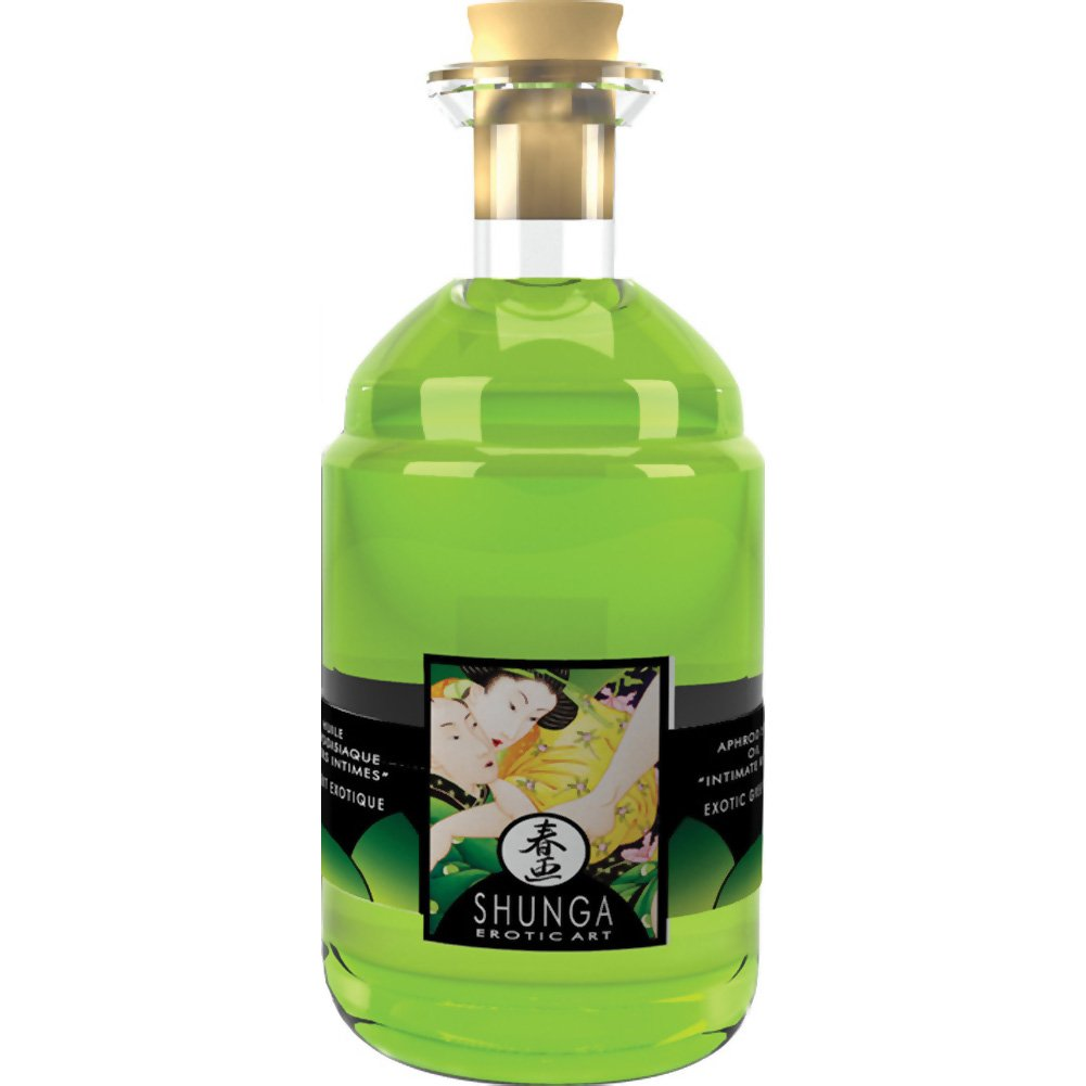 Shunga Aphrodisiac Warming Oil for Lovers 3.5 Fl.Oz 100 mL Exotic Green Tea - View #2