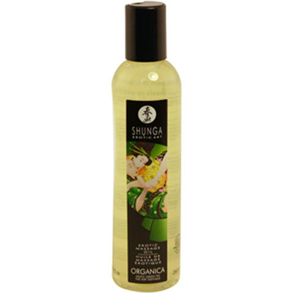 Shunga Erotic Art Massage Oil Organica 8 Fl.Oz 250 mL Exotic Green Tea - View #1