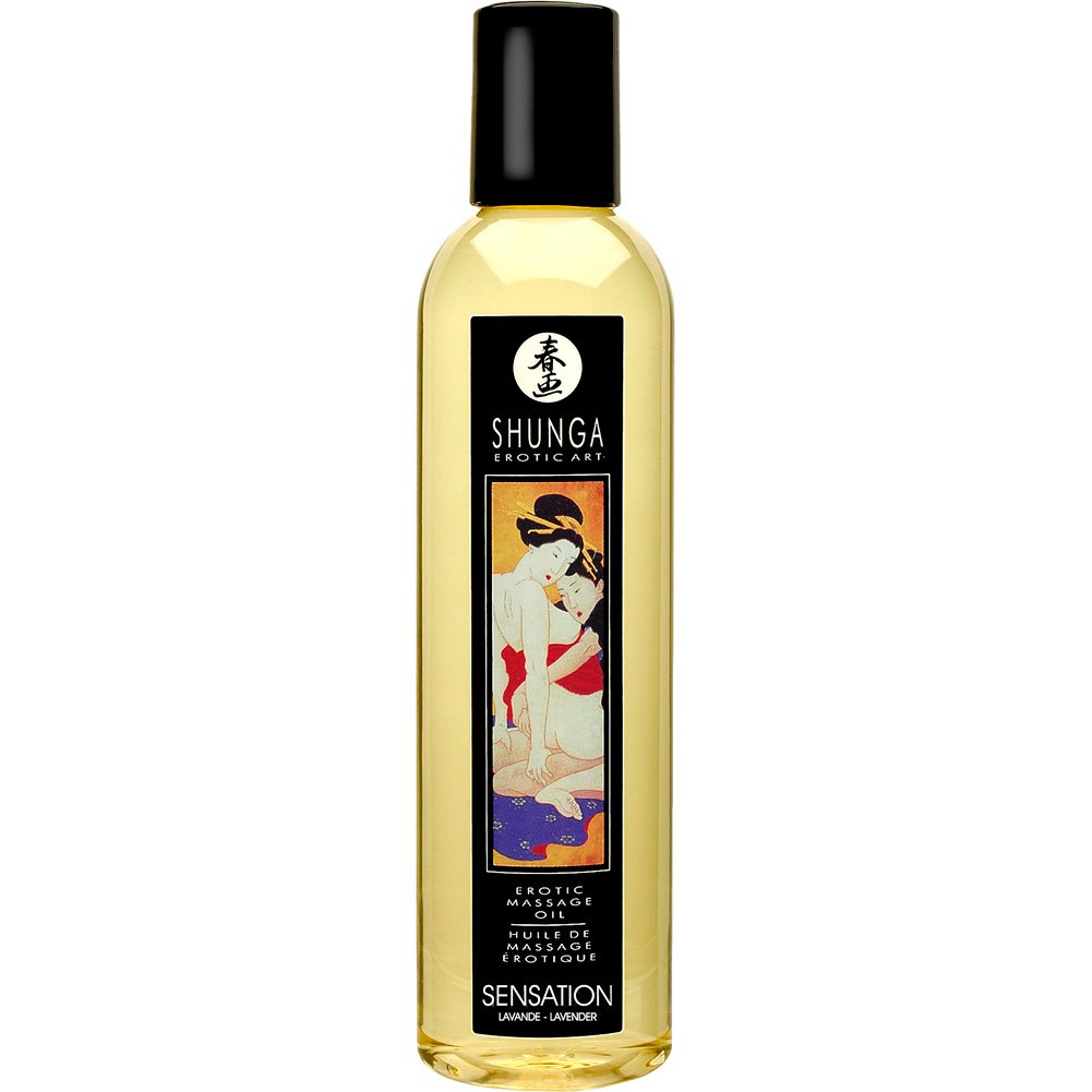 Shunga Erotic Art Massage Oil 8 Fl.Oz 250 mL Sensation Lavender - View #1