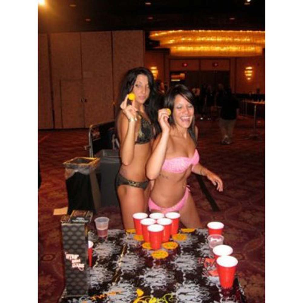 Strip And Dare The Sexiest Portable Beer Pong Table Mat - View #3