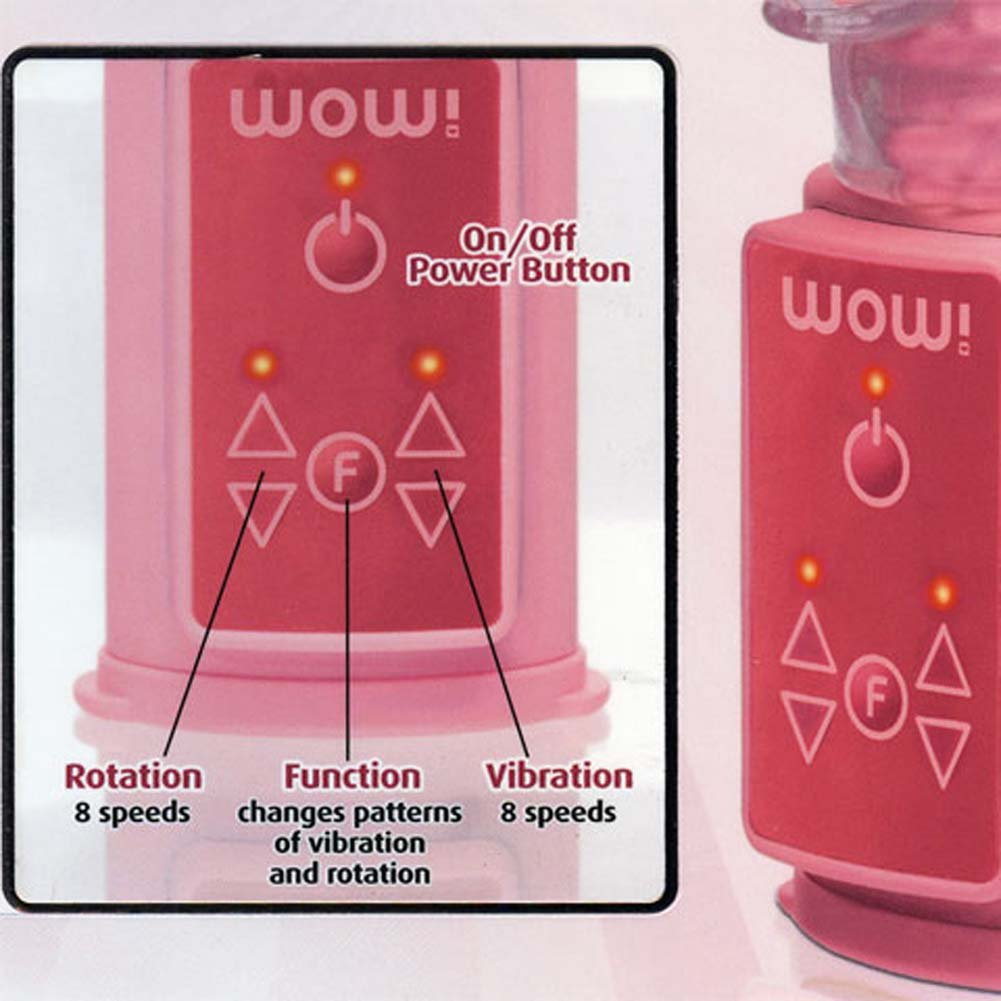 """Wow Vibe No. 5 - Jelly Ticklers Vibrator 10.5"""" Pink - View #3"""