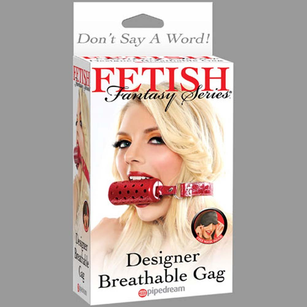 Fetish Fantasy Series Designer Breathable Gag Red RbDV - View #3