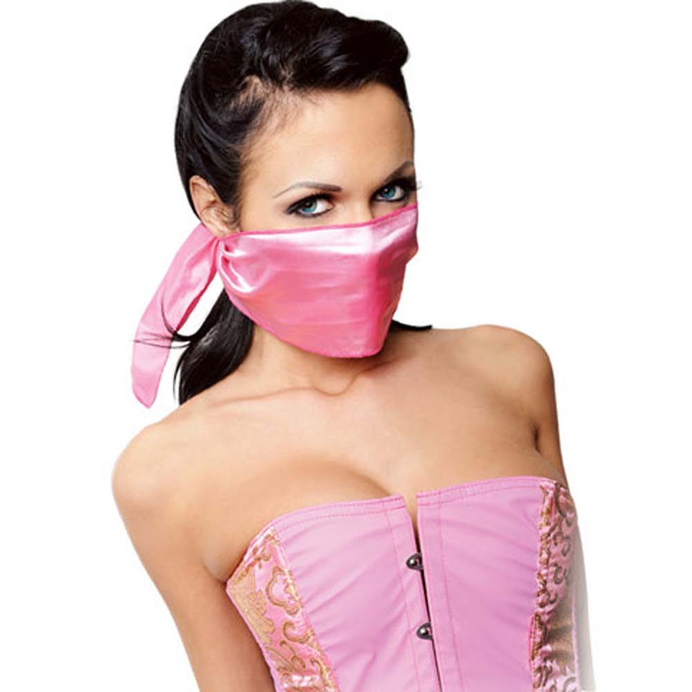 Fetish Fantasy Extreme Light Pink Satin Scarf - View #2