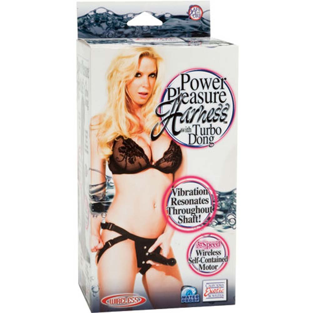 Power Pleasure Harness with Waterproof Turbo Dong Black - View #3