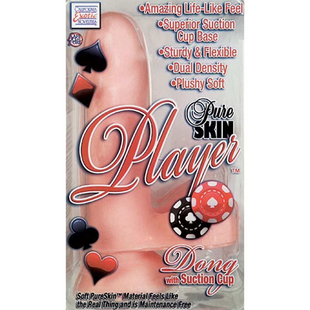 "Pure Skin Player Dong with Suction Cup Natural 6.75"" - View #4"