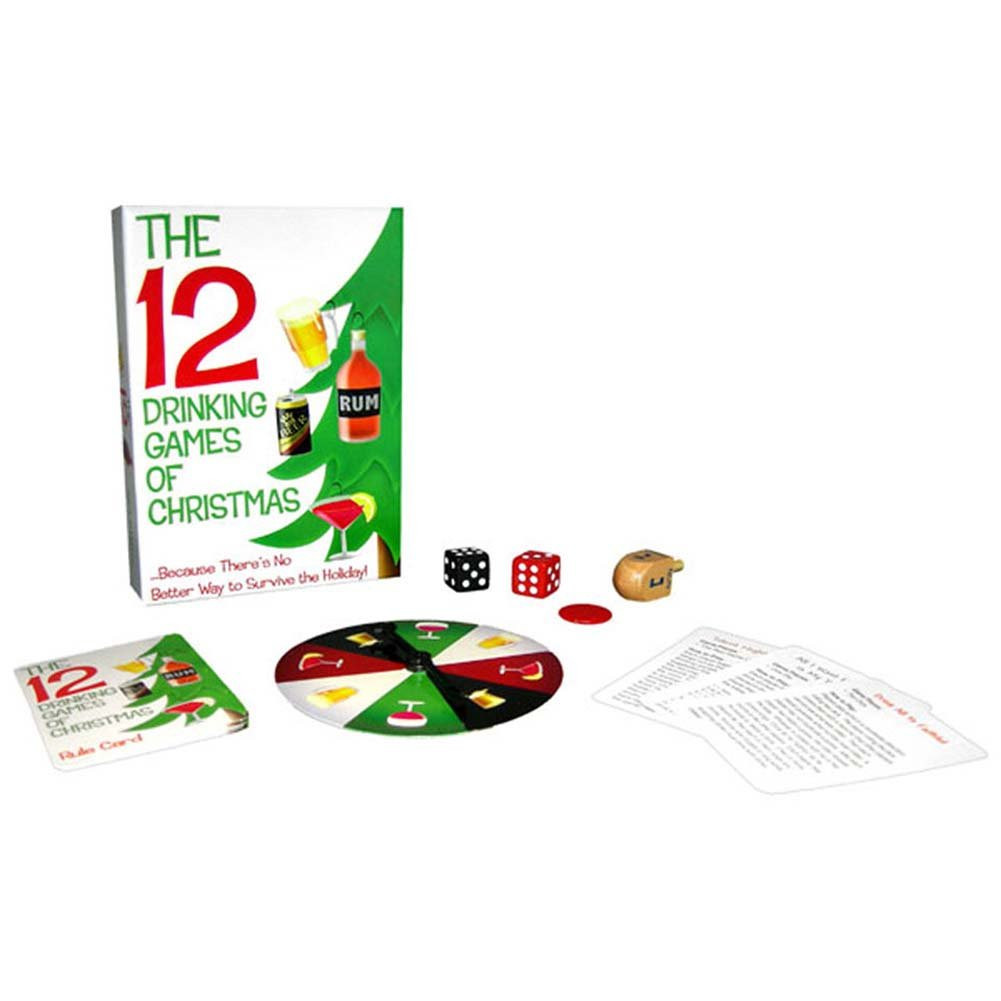 12 Drinking Games of Christmas Holiday Game Set - View #2