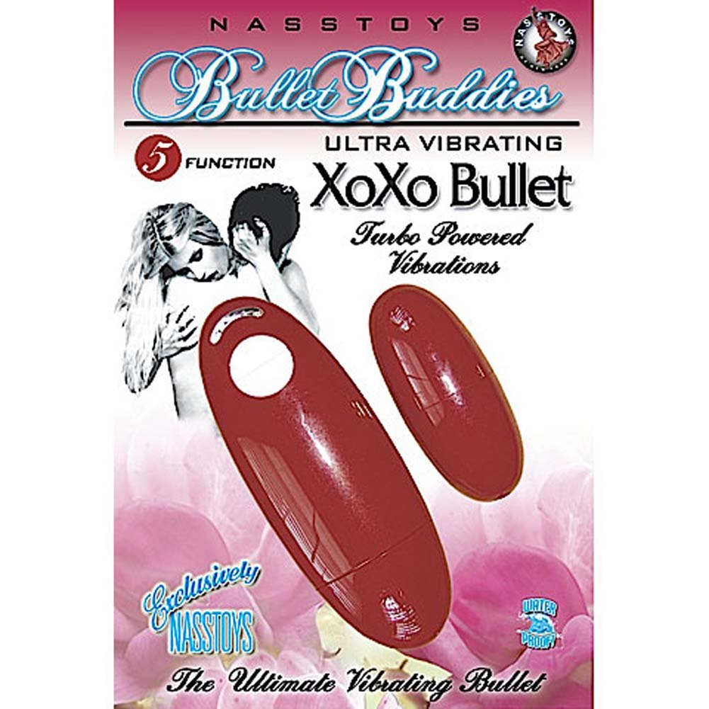 Bullet Buddies Waterproof Ultra Vibrating XOXO Bullet Red - View #1