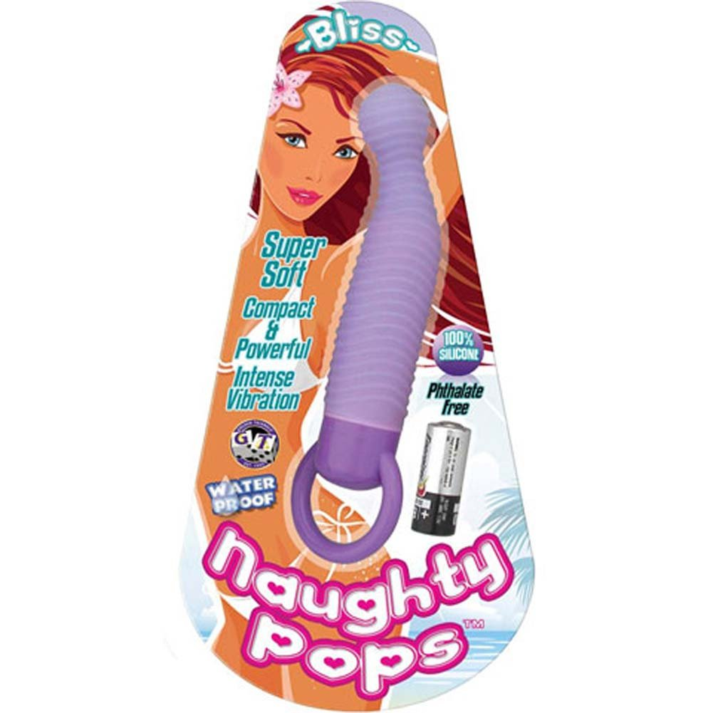 Naughty Pops Bliss Waterproof Silicone Vibe Lavender - View #1