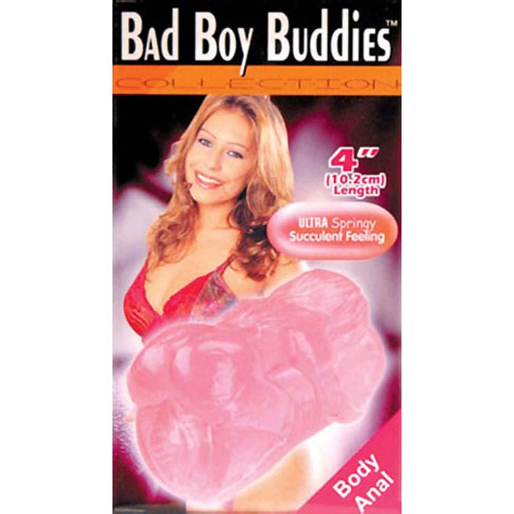 """Golden Triangle Bad Boys Sucking Textured Anal Jelly Masturbator 4"""" Bubblegum - View #1"""