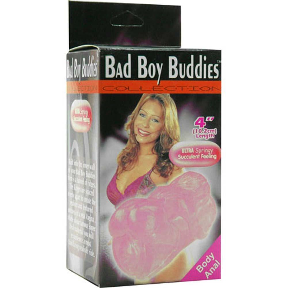 """Golden Triangle Bad Boys Sucking Textured Anal Jelly Masturbator 4"""" Bubblegum - View #3"""