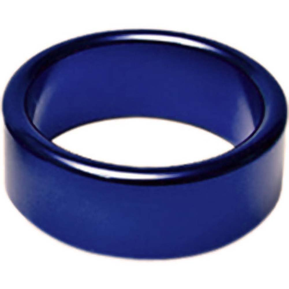 "TitanMen Xtra Thick Metal Cockring 1.5"" 40 Mm Blue - View #1"