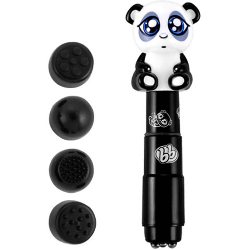 Bzzz Buddies Pandy Vibrator with 4 Interchangeable Tips - View #1