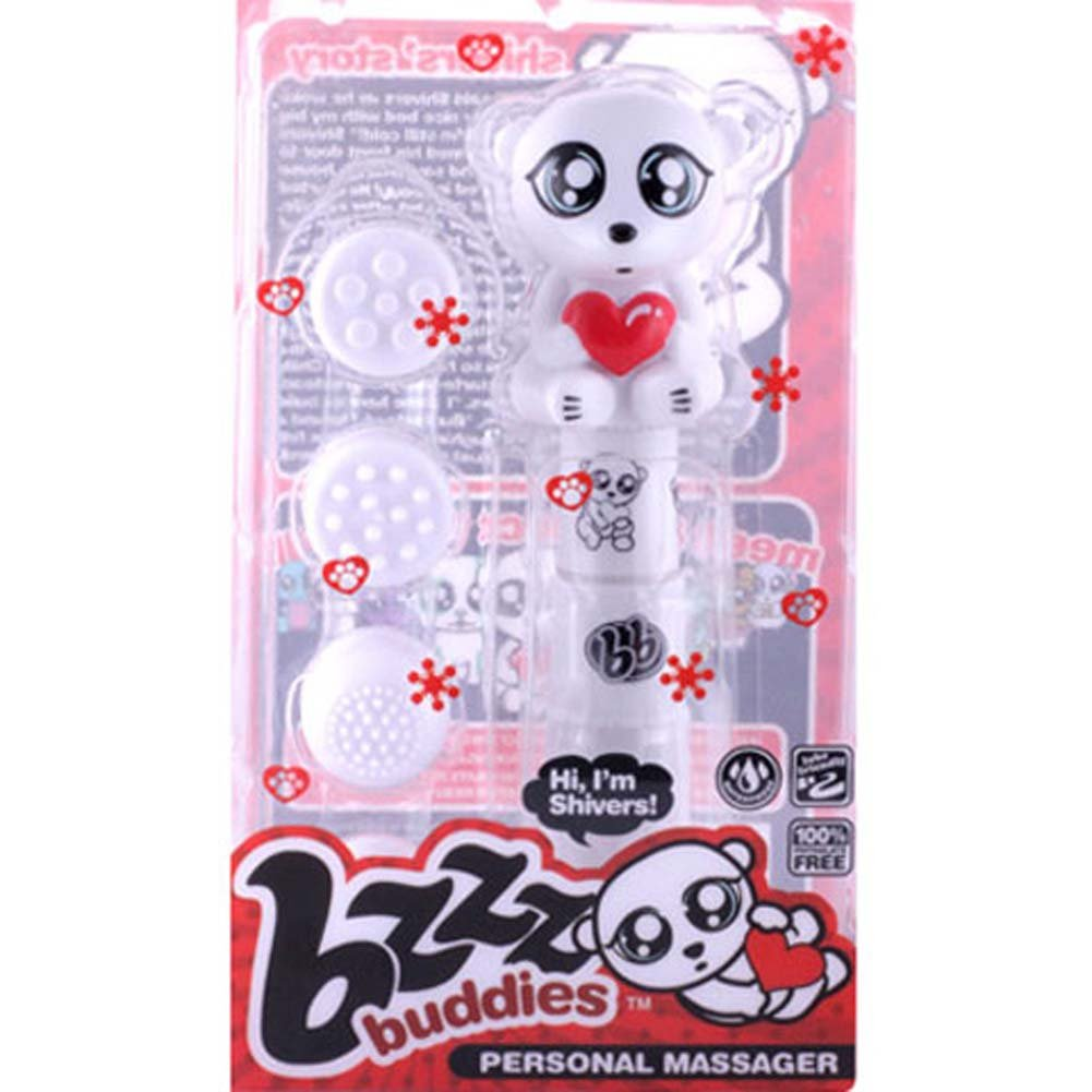 Bzzz Buddies Shivers Vibrator with 4 Interchangeable Tips - View #4
