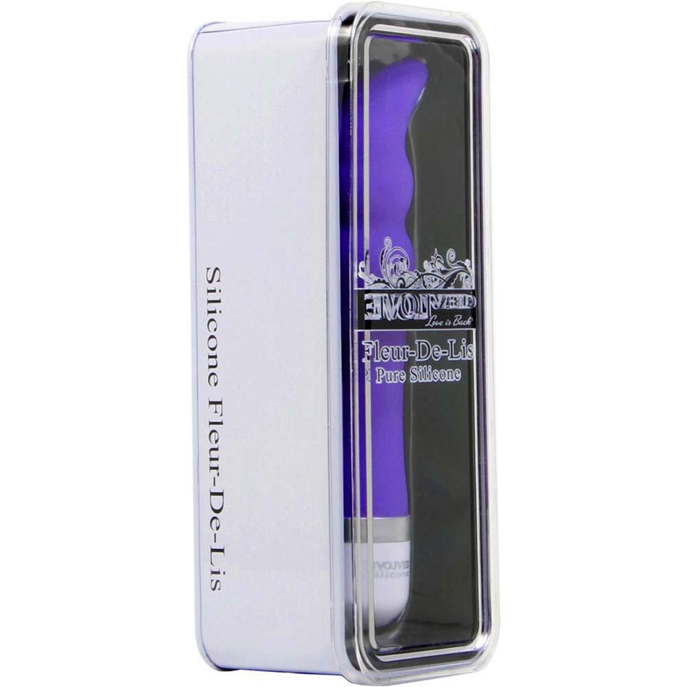 "Fleur De Lis Silicone Silky G Vibe G-Spot Vibrator 8"" Purple - View #1"