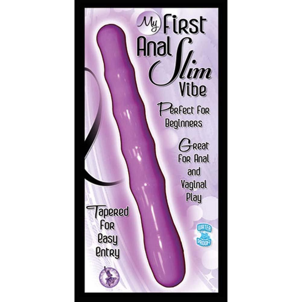 "Nasstoys My First Anal Slim Waterproof Vibe 6.5"" Purple - View #3"