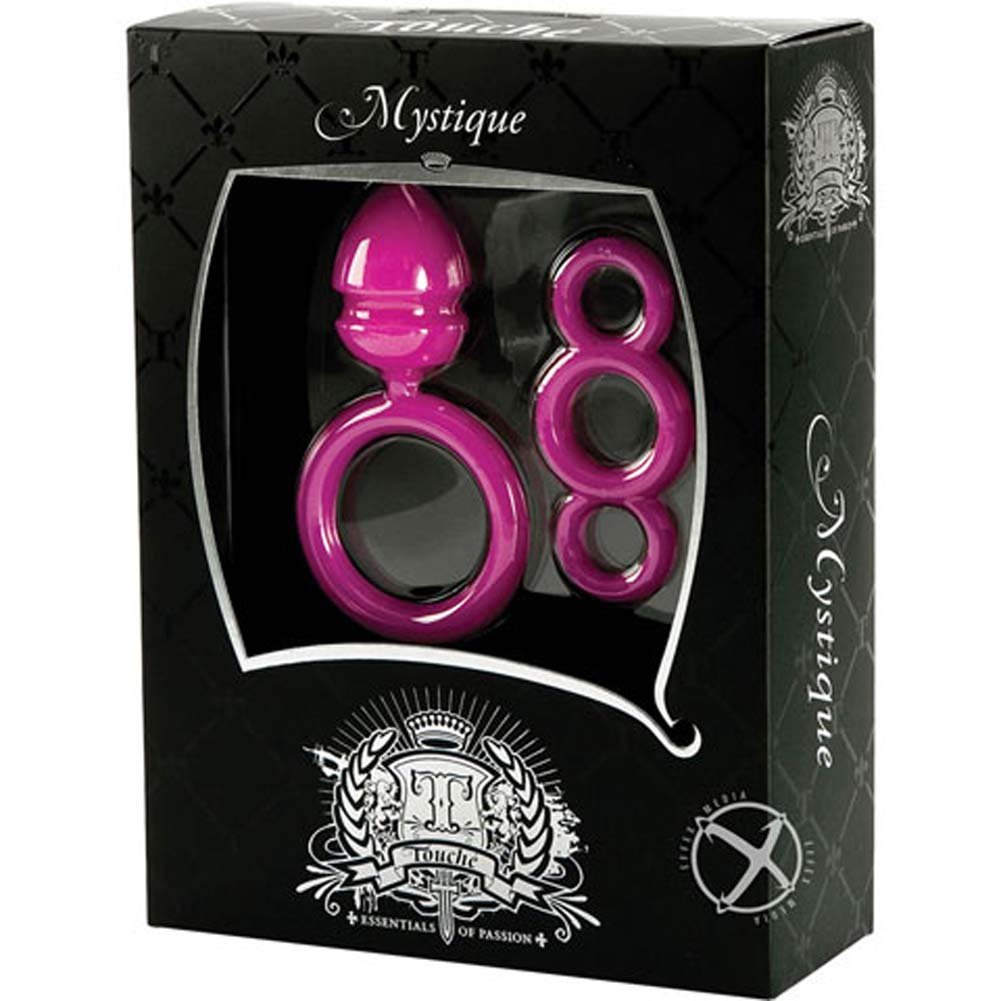 Mystique Vibrating Waterproof Silicone Cockring Pink - View #2