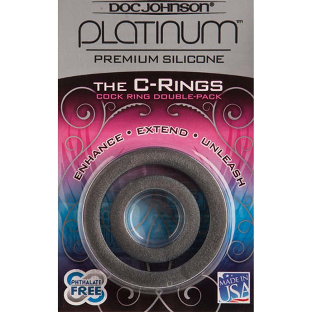 Platinum Silicone the C Rings Set Charcoal - View #2