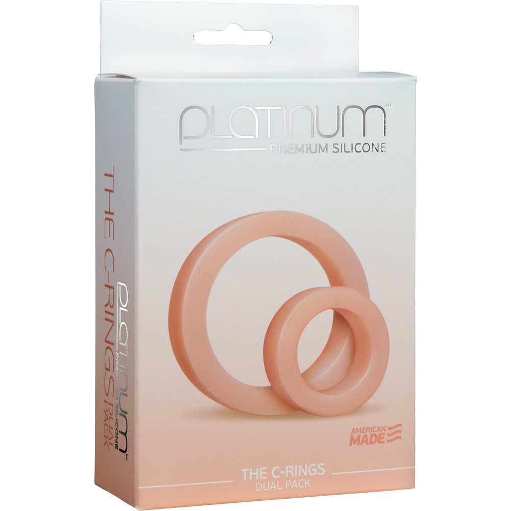 Platinum Premium Silicone C-Rings White - View #1