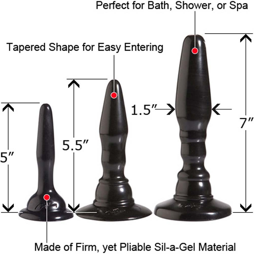 Wendy Williams Anal Trainer Kit with 3 Butt Plugs Black. - View #1