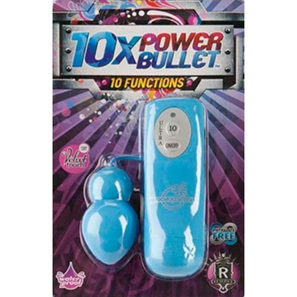 "10X Waterproof Power Bullet 2"" Blue - View #2"
