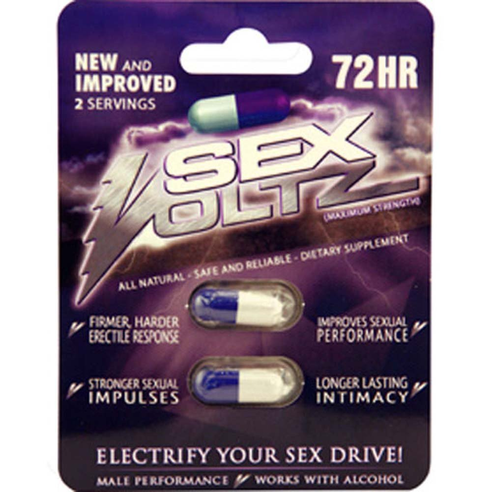 SexVoltz Male Sexual Enhance 2 Cap Blister Pack - View #1