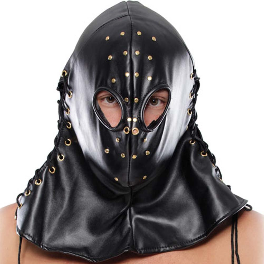 Fetish Fantasy Extreme Executioner Hood and Jockstrap Black - View #2