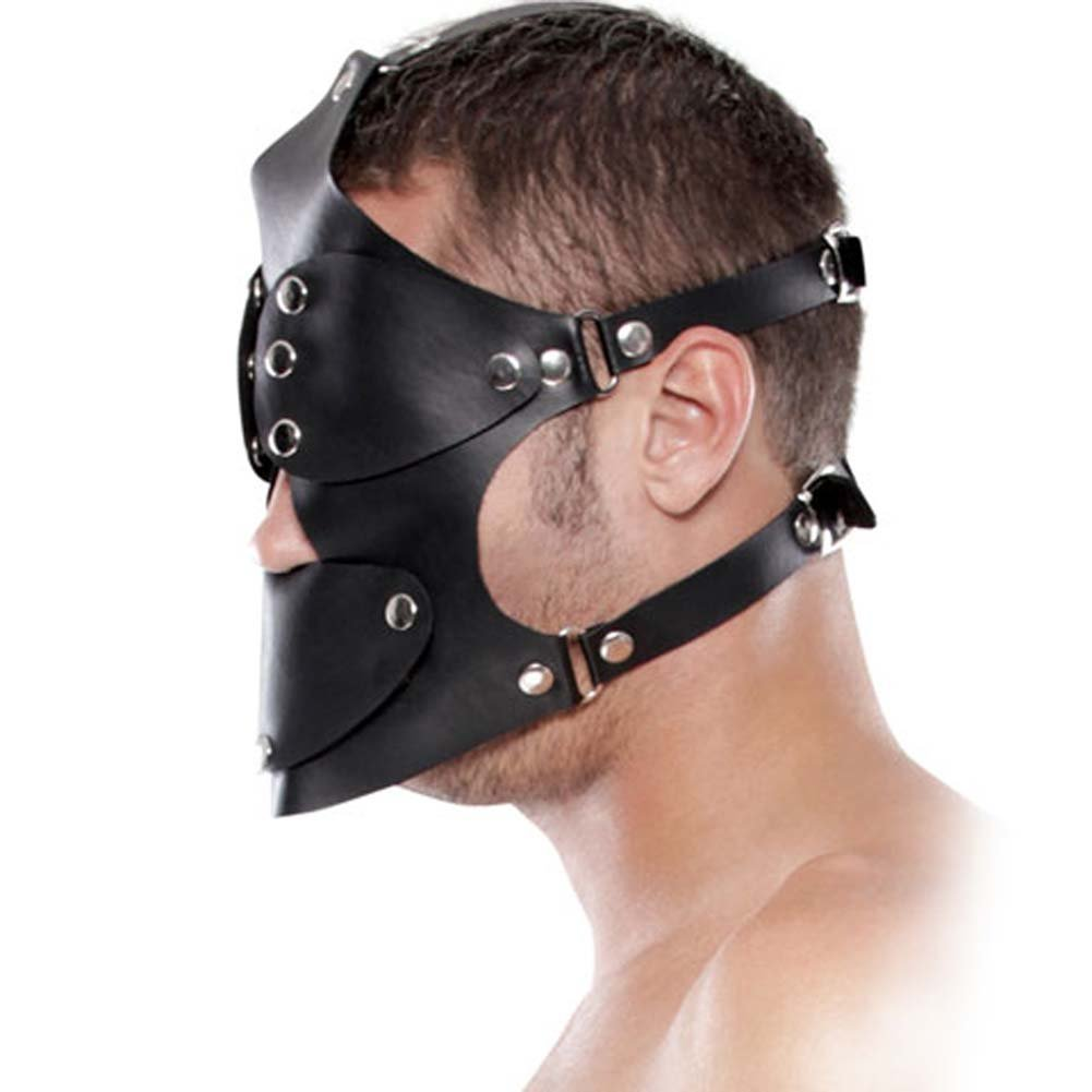 Fetish Fantasy Extreme Gag Blinder Mask Black - View #2