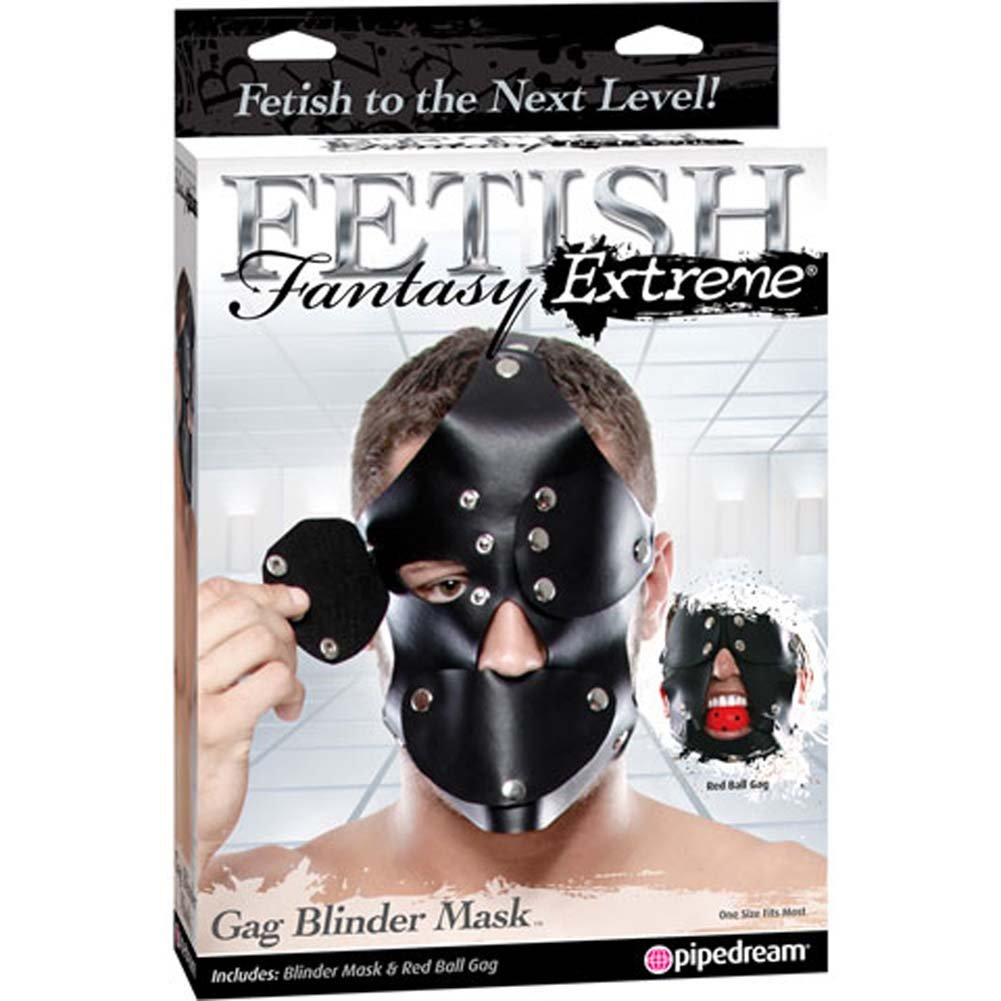 Fetish Fantasy Extreme Gag Blinder Mask Black - View #4