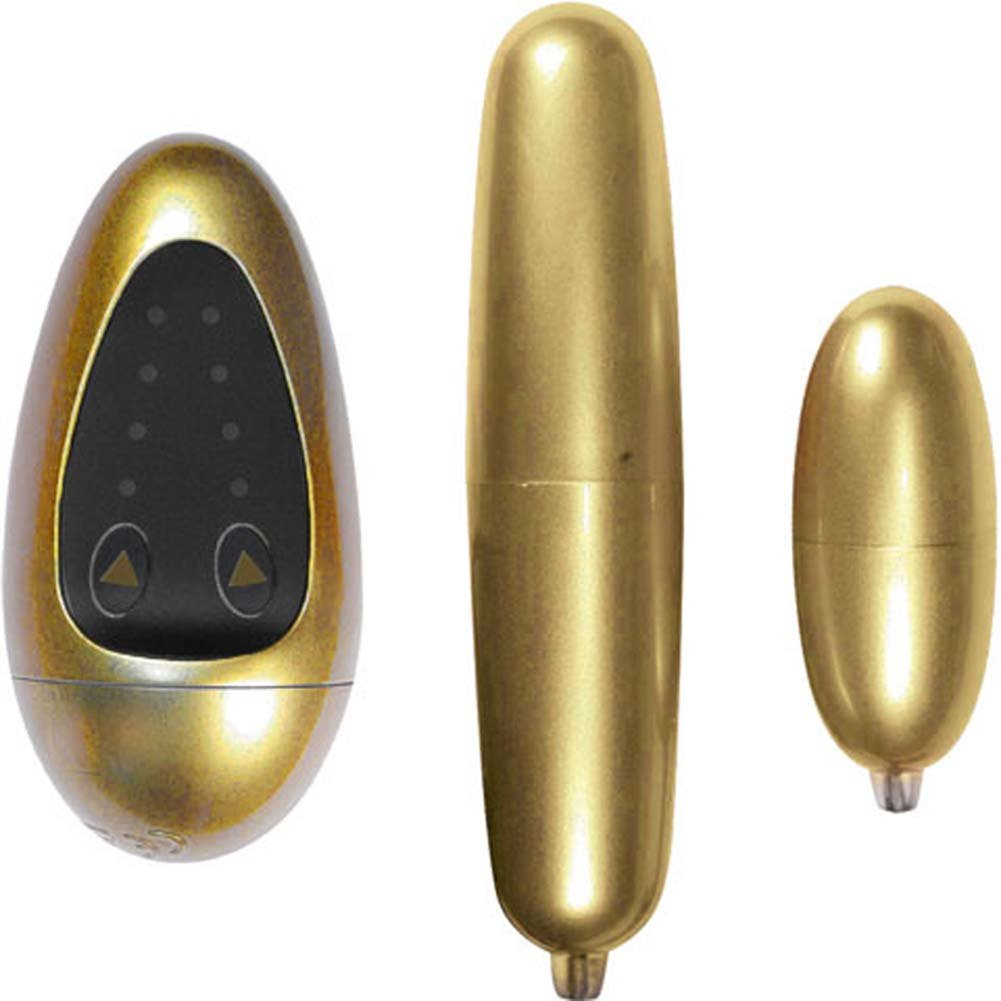 Nassty Collection Vibrating Mighty and Mini Massager Kit Gold - View #2