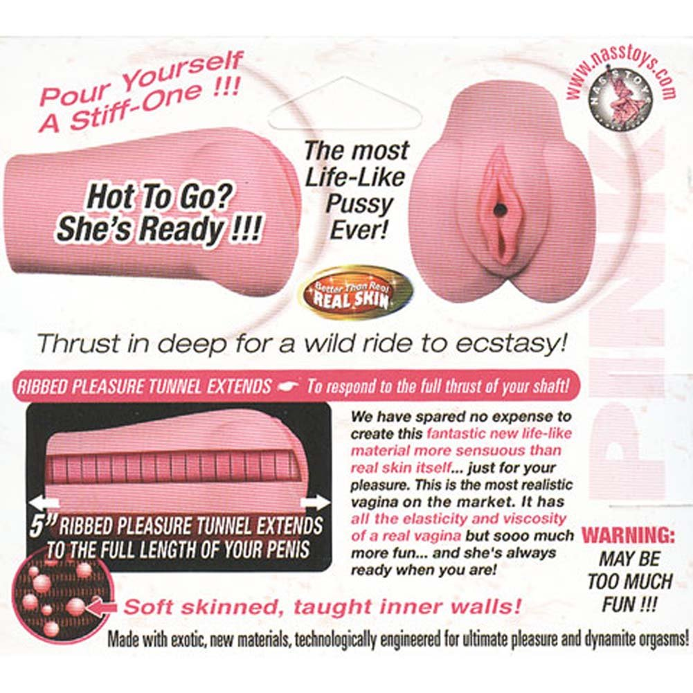 "Nasstoys Angelina Pussy Jelly Masturbator 6"" Pink - View #1"