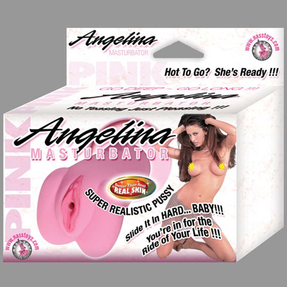"Nasstoys Angelina Pussy Jelly Masturbator 6"" Pink - View #3"